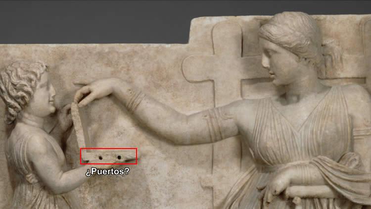 ¿Una laptop presente en una escultura griega que existe desde 100 años antes de Cristo? ¿Un oopart o una simple caja?