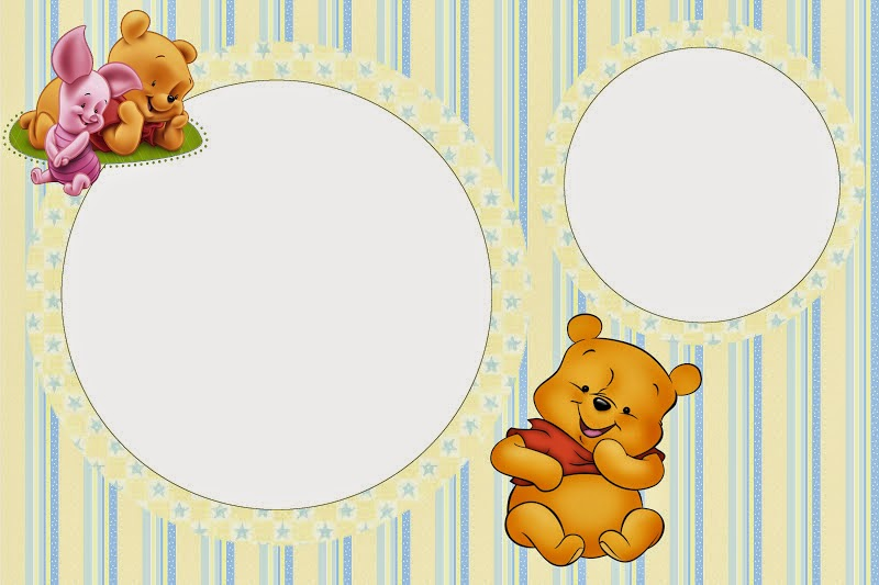 Winnie the Pooh Baby: Free Printable Invitations.