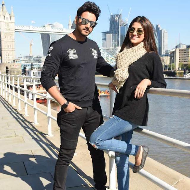 Yash Dasgupta with Sanjana