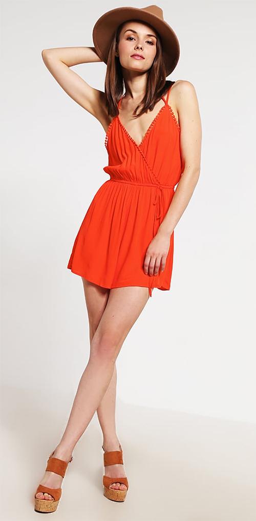 Combishort femme orange New Look Petite