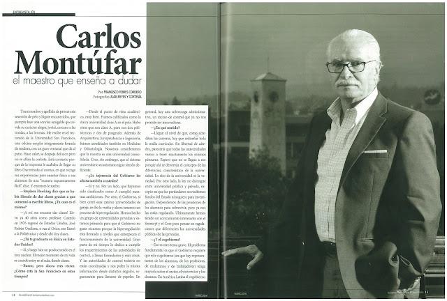 Carlos Montufar  el maestro que enseña a dudar