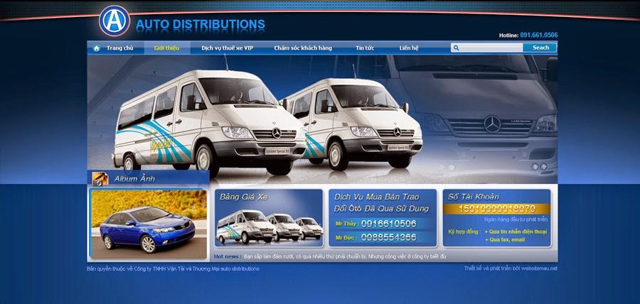 thiết kế website bán hàng cho thuê xe chuyên nghiệp