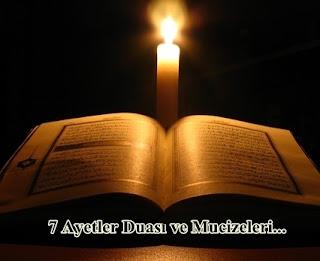 7 Ayetler Duasi ve Mucizeleri
