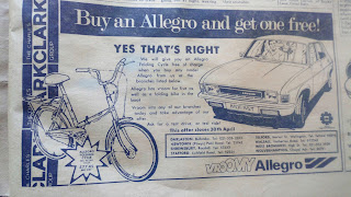 Charles Clark Austin Allegro advert April1979