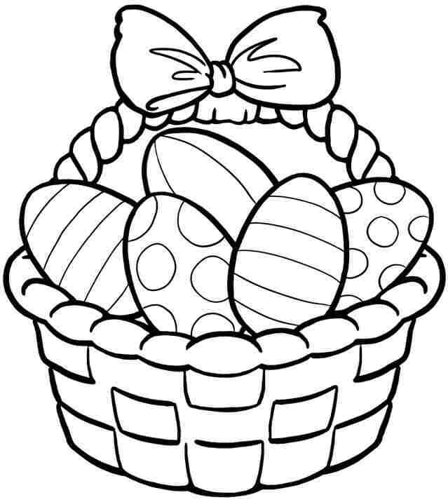 Easter basket coloring images easter baskets ideas easter easter basket coloring images negle Image collections