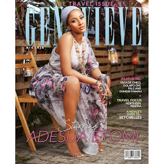 Nollywood's Adesua Etomi is coverstar for Genevieve magazine's latest edition.