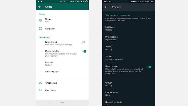 WhatsApp light - dark Mode