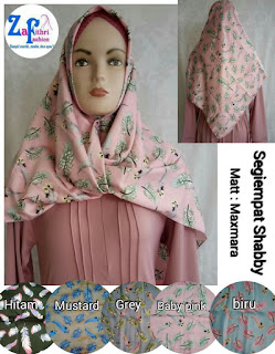 jilbab segi empat shabby bahan maxmara