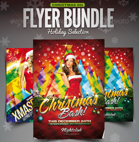 christmas holiday template bundle