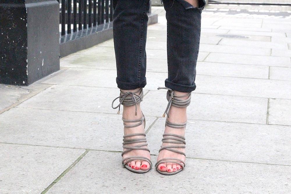 Khaki Strappy Heels