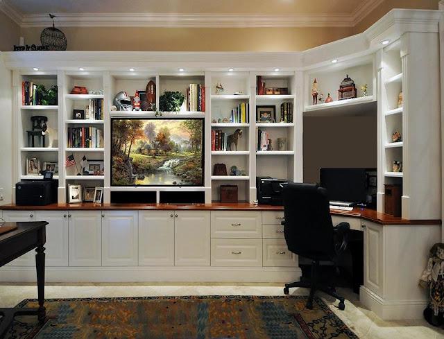 best custom home office desk wall design ideas