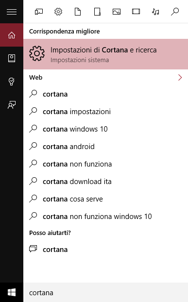 come disattivare cortana windows 10