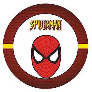 Toppers o Etiquetas de Spiderman para imprimir gratis.
