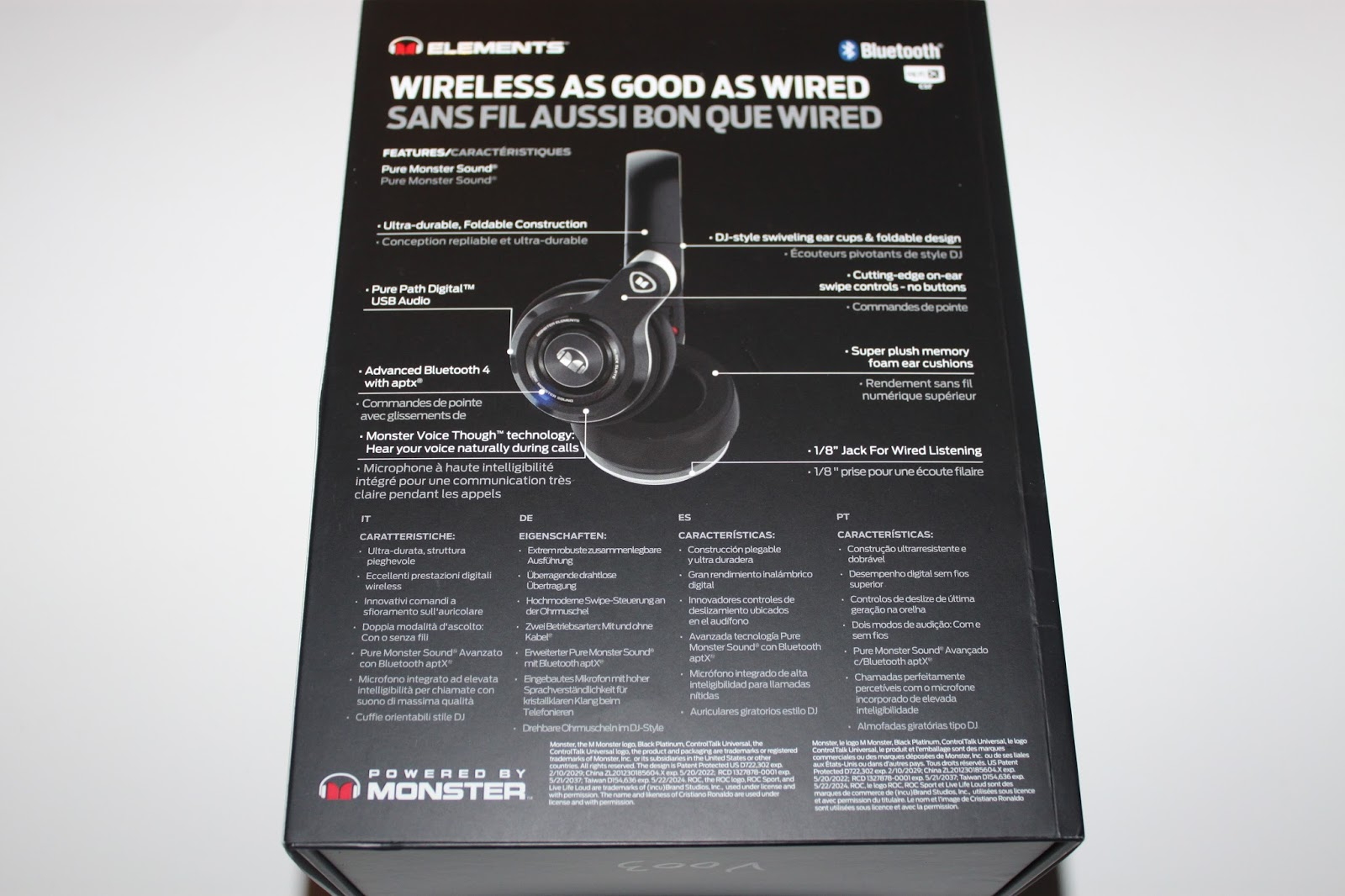 Stereowise Plus  Monster Elements Black Slate Wireless Over The Ear ... 5982a9cdcdc2