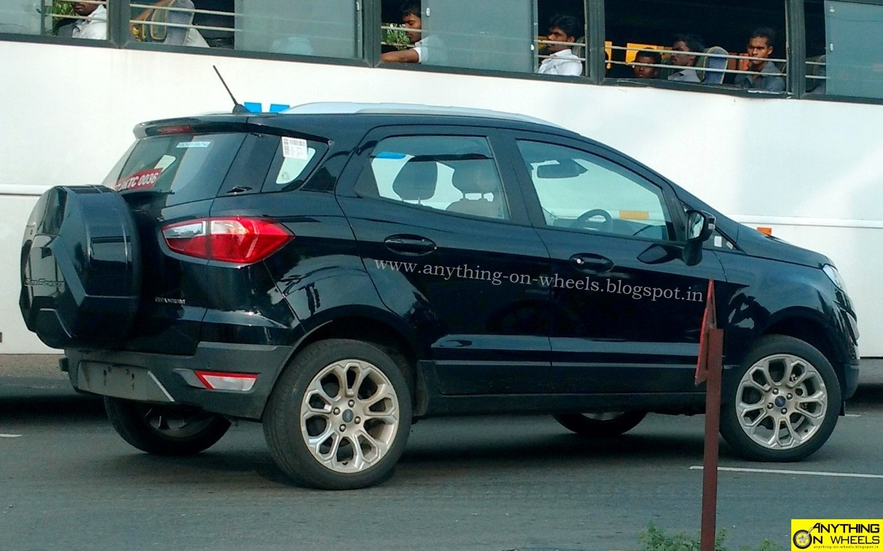 anything on wheels ford ecosport facelift seen testing in. Black Bedroom Furniture Sets. Home Design Ideas