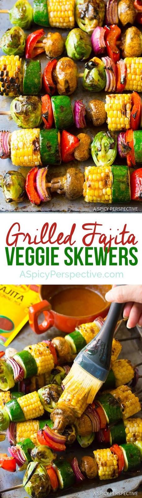 Grilled Fajita Vegetable Skewers