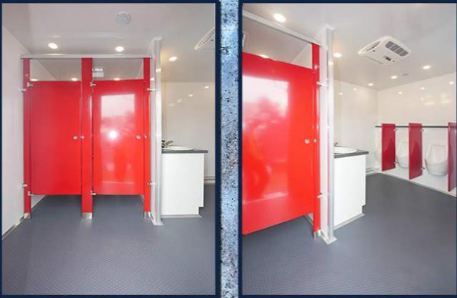 Men's spacious restroom facilities
