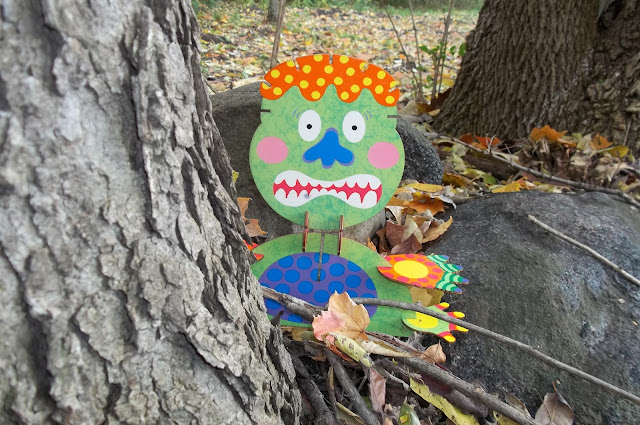 Explore Monsters in a Pretend Play Monster Hunt Outdoor Creative Play