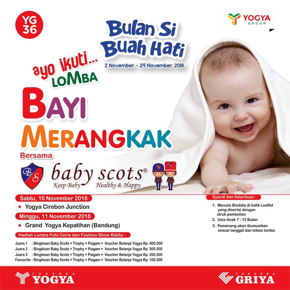 Yogya - Promo Kontes Bayi Merangkak Bersama Baby Scots (10 - 11 Nov 2018)