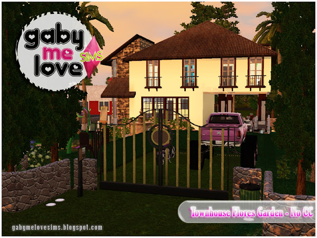 Townhouse Flores Garden |NO CC| ~ Lote Residencial, Sims 3. By. Gabymelove.
