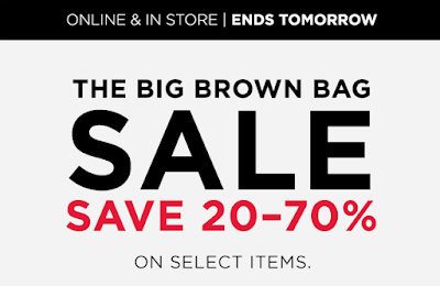 The Bloomingdales Big Brown Bag Sale is happening NOW! For every $ you spend, you'll get $25 taken off your total. For every $ you spend, you'll get $25 taken off your total. There are also LOTS of items marked down over 50% off + Bloomingdales cardholders can earn 5x points when ordering online.