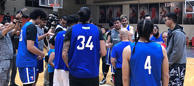 Gilas Pilipinas' Third Practice for the Fourth Window of the FIBA World Cup Asian Qualifiers (VIDEO) September 6