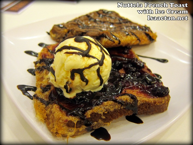 Nuttela French Toast with Ice Cream