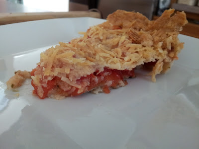 Slice of tomato pie from Honest & Truly recipe