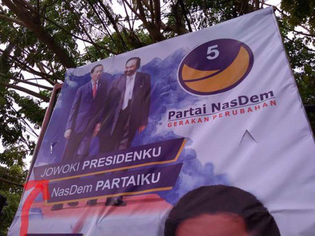 Baliho Nasdem Salah Tulis Nama Presiden, Jokowi Jadi Jowoki