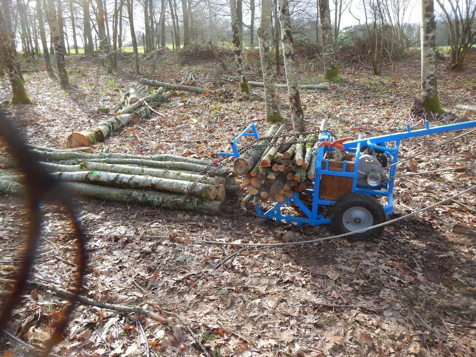 materiel forestier pour bois de chauffage