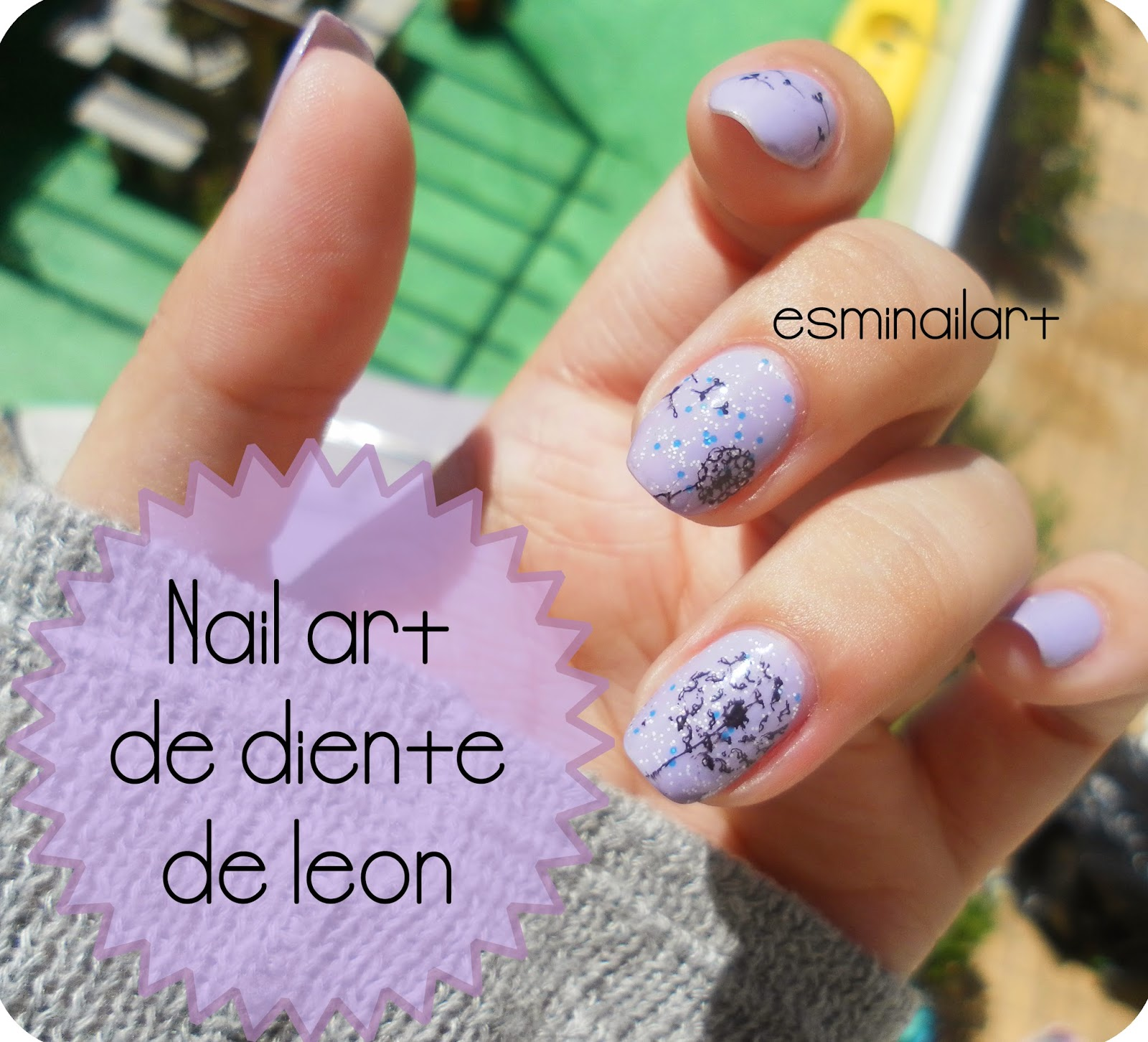 Mi Nail Art Diente De León Moyou London