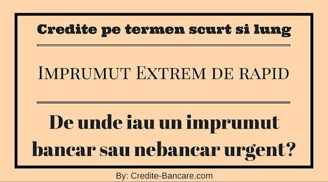 Imprumut rapid acordat pe termen scurt si lung de la un institut nebancar si o banca puternica din Romania.
