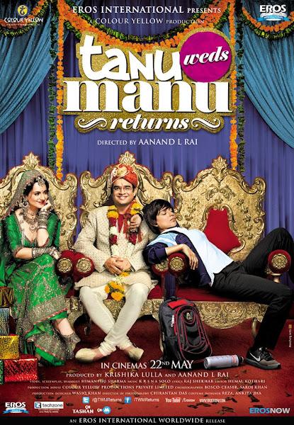 Poster of Tanu Weds Manu Returns 2015 720p Hindi BRRip Full Movie Download