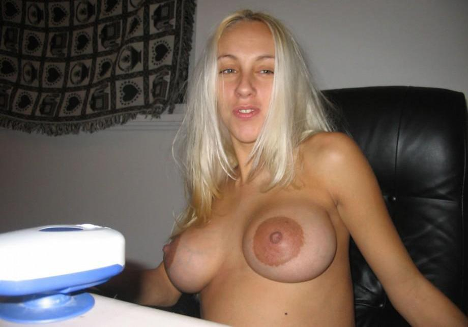Alicia has enormous tits and can suck both her nipples 2