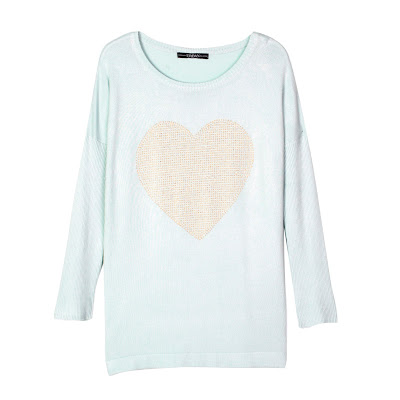 Jersei azul con corazón rosa Venca