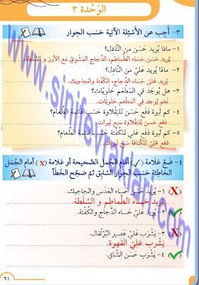8. Sınıf Arapça Meb Yayınları Ders Kitabı Cevapları Sayfa 61
