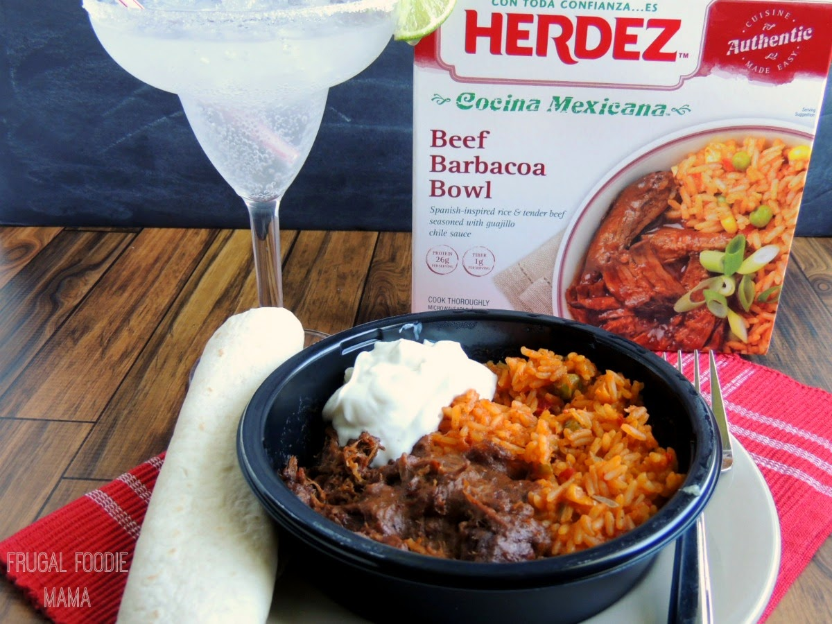 Family Dinner-In with HERDEZ® Frozen Bowls & Mockagaritas- a fun & kid friendly mocktail! via thefrugalfoodiemama.com #HerdezFrozenBowls