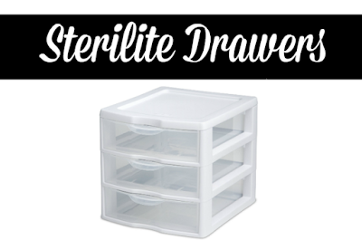 drawers for teachers, classroom storage, sterilite drawer labels