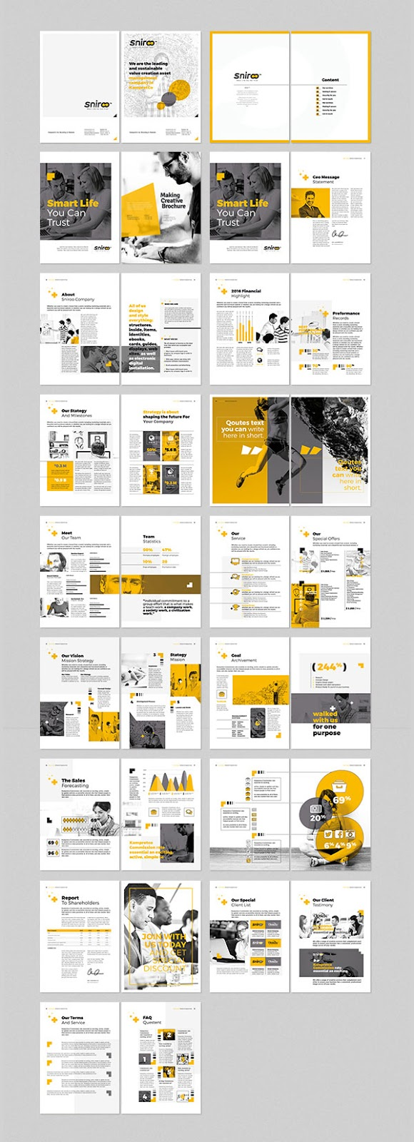 Inspirasi 20+ Desain Brosur dan Katalog Modern - 2 Color Catalogue Layout Ideas