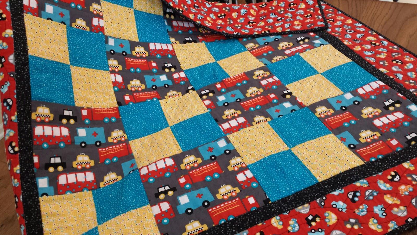 My Patchwork Quilt: ANOTHER BABY QUILT FOR BECKETT : transportation quilt - Adamdwight.com