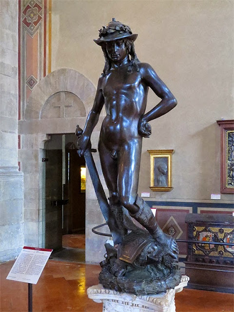 The bronze David by Donatello, Museo Nazionale del Bargello, Florence