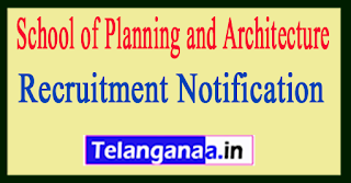 School of Planning and Architecture SPAV Recruitment Notification 2017