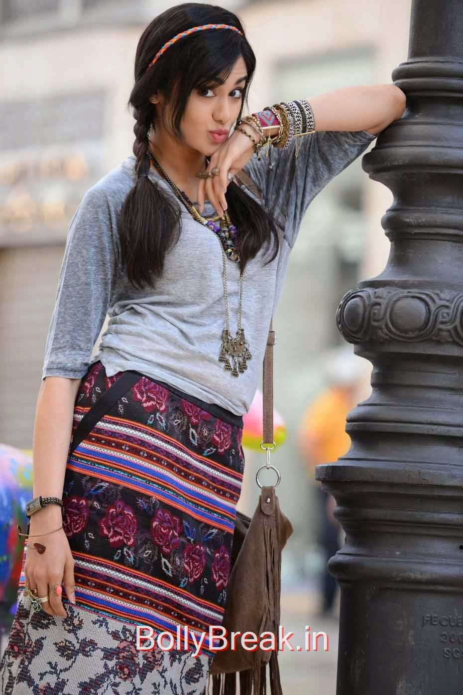Adah Sharma Pictures, Adah Sharma Hot Pics In Grey and White Top
