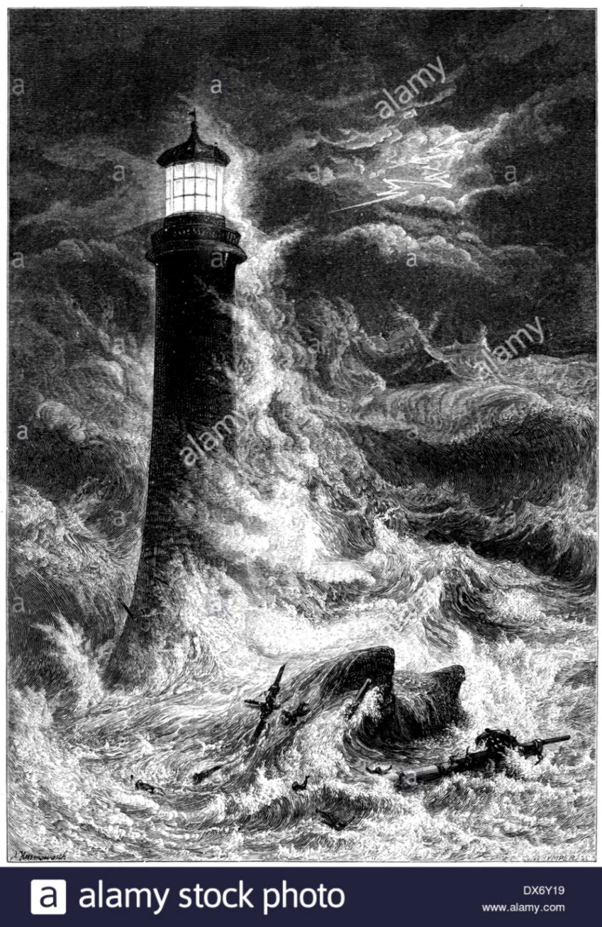 Lighthouse Storm At Night   Wallpapers Corner