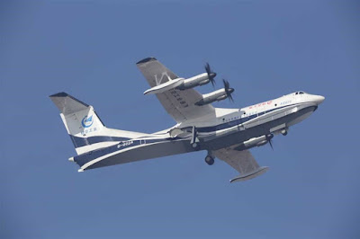 AG600: World's Largest Amphibious Aircraft Takes Off