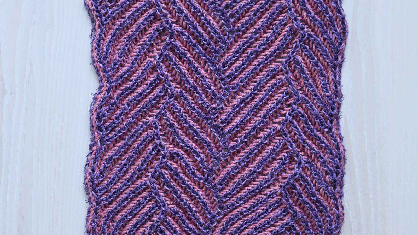 Pathways Scarf - Brioche Knitting