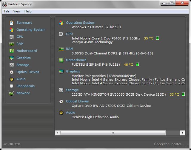 Speccy 1.32.740 Portable | Toda la información sobre el hardware de tu equipo