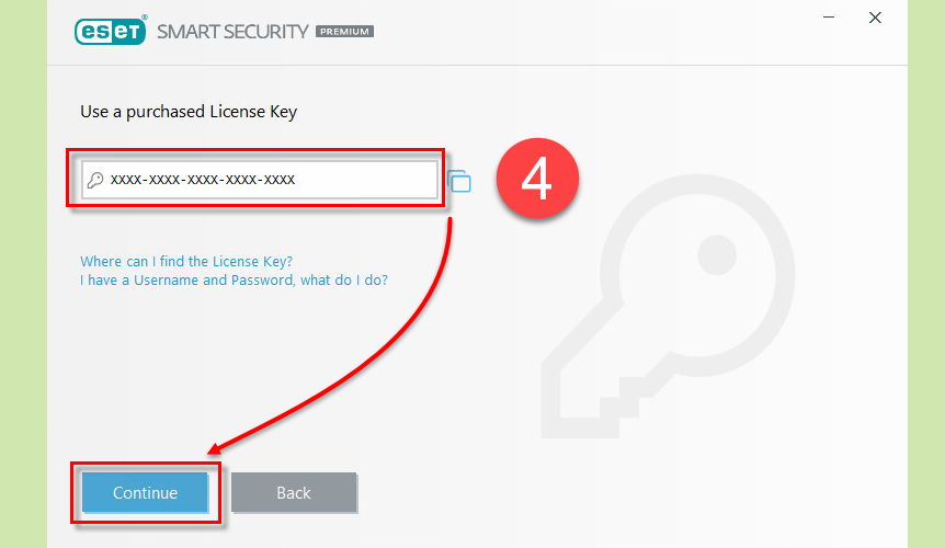 Activate eset nod32 using my Username, Password, or ...