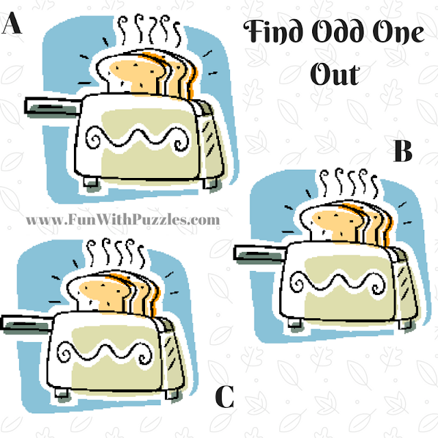 Odd One Out Picture Puzzle Toaster