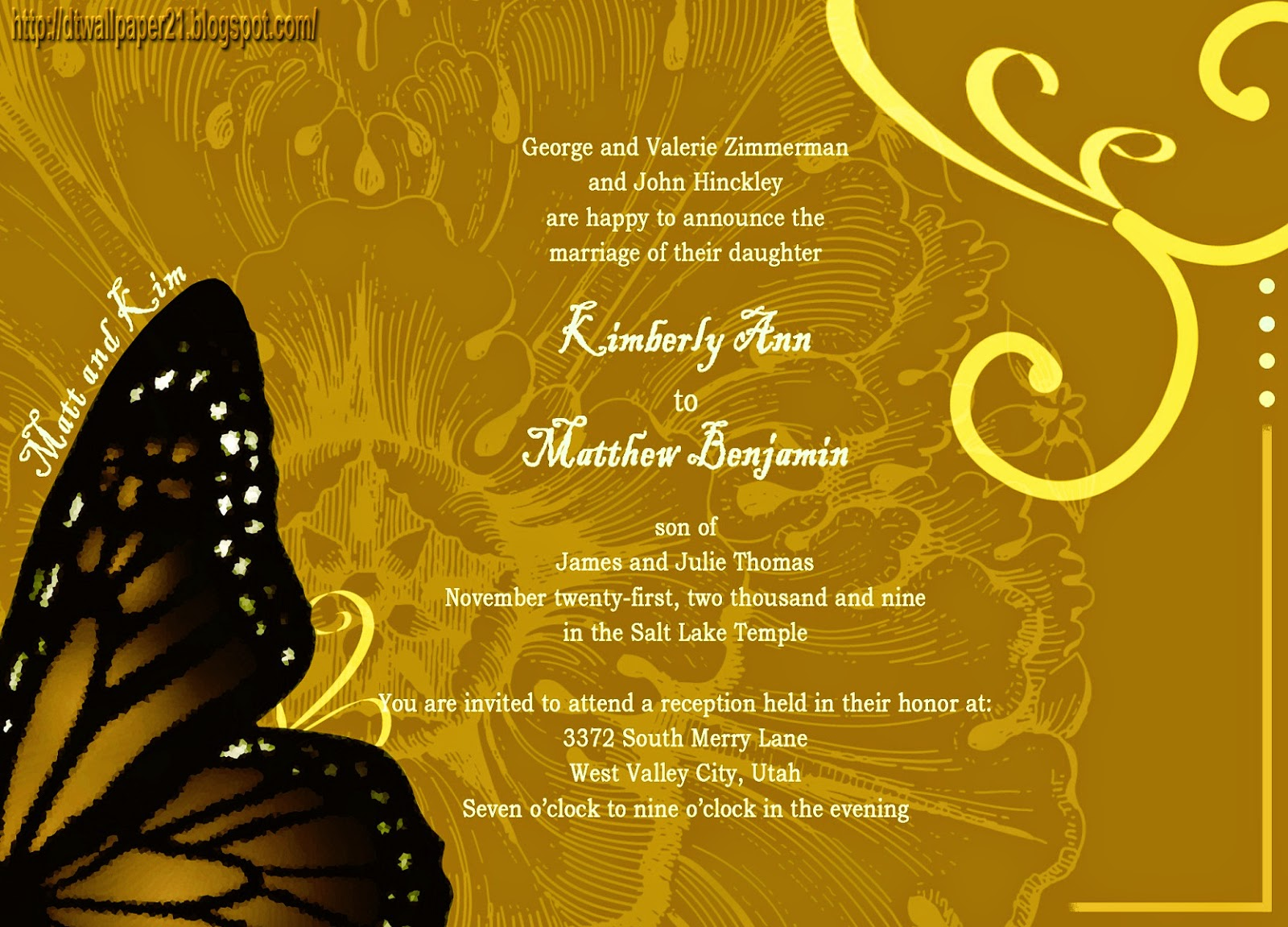 Wedding Bible Verses For Invitation Cards: Background Screensavers: Wedding